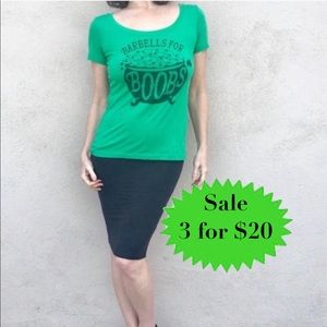 REEBOK tee CROSSFIT SHIRT graphic image top Green